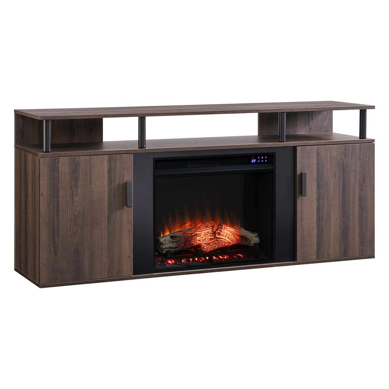 SEI Livingvale FR1010456 Media Fireplace in Brown / Black