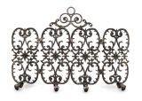 4-Panel Siena Fireplace Screen with Arch - Silver Rub