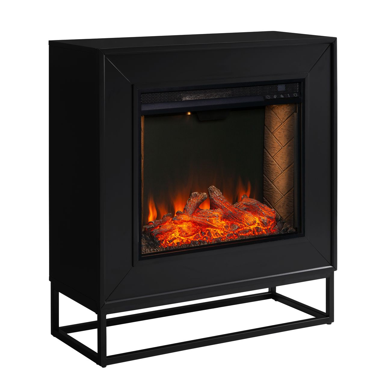 Holly & Martin Frescan Alexa-Enabled Smart Fireplace in Black