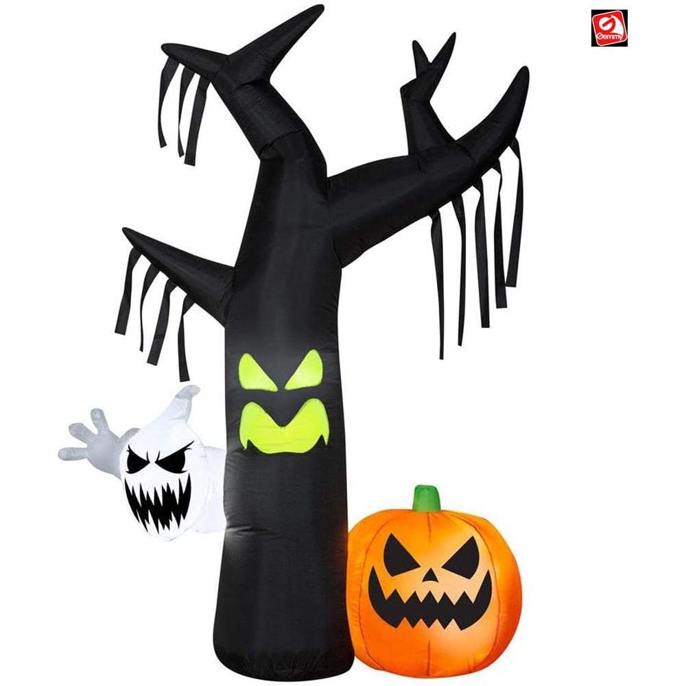Gemmy Ghostly Tree Scene Inflatable Yard Decor