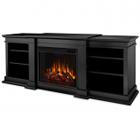 Real Flame G1200E-B Fresno Entertainment Electric Fireplace - Black