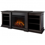 Real Flame G1200E-DW Fresno Entertainment Electric Fireplace - Dark Walnut