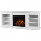 Real Flame G1200E-W Fresno Entertainment Electric Fireplace - White