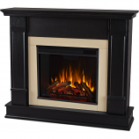 Real Flame G8600E-B Silverton Electric Fireplace - Black