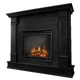 Silverton Black Electric Fireplace