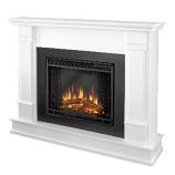 Silverton White Electric Fireplace