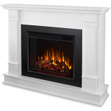 Real Flame G8600E-W Silverton Electric Fireplace - White