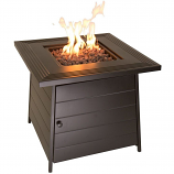 """Endless Summer The Anderson, LP Gas Fire Pit 28"""" Steel Mantel"""