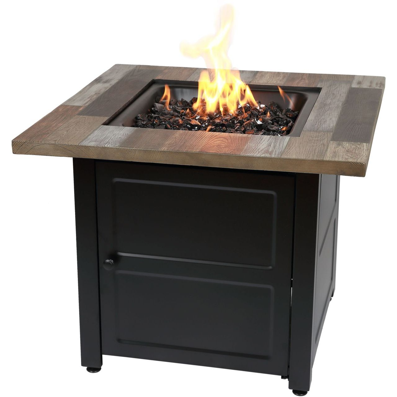 "Endless Summer Cayden 30"" Gas Fire Table With Printed Resin Mantel"