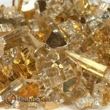 "1/2"" Casino Gold Metallic Fireglass - 1 Lbs. Bag"