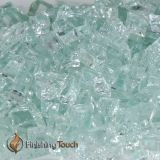 """1/2"""" Icy Mint Metallic Fireglass - 8 Lbs. Container"""