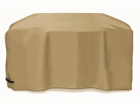 88-inch Khaki Polyester Cover for BBQ Grill Carts by Two Dogs