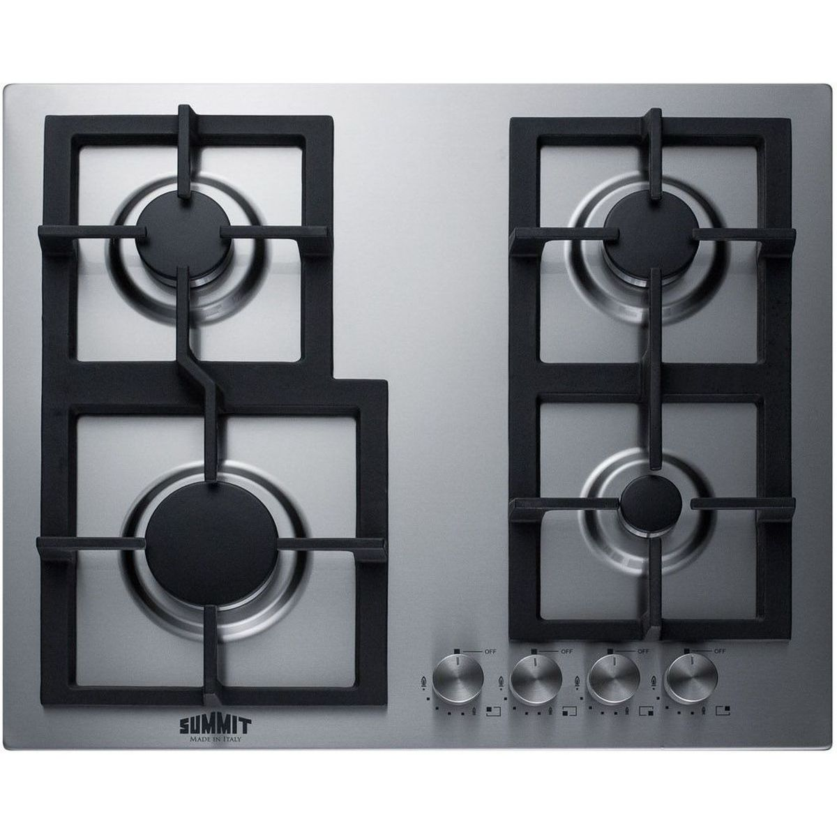 Summit GCJ4SS 24'' 4-Burner Gas Cooktop In Stainless Steel