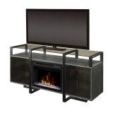 Milo Media Console Electric Fireplace with Acrylic Ice Firebox
