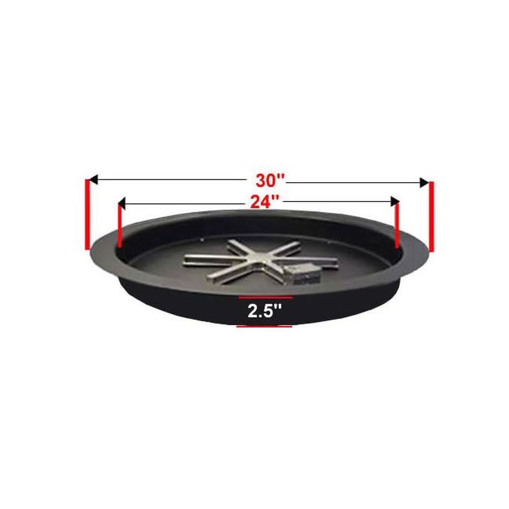 """Golden Blount 24"""" Pan For Grand Fire Pit"""