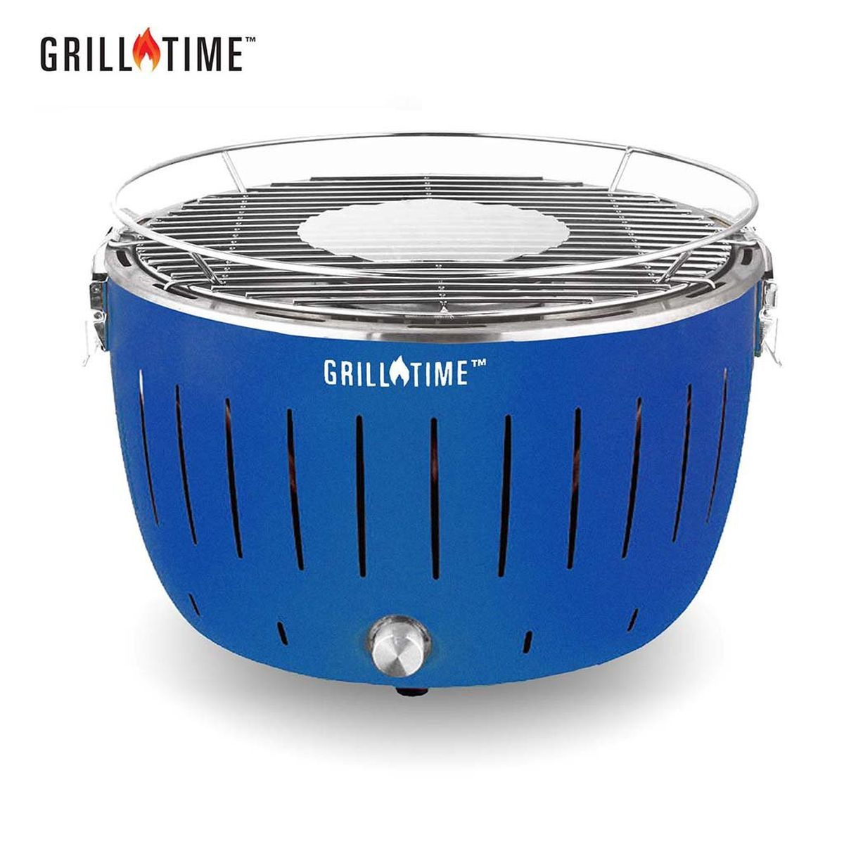 Grill Time Tailgater GT Regular Pack Portable Charcoal Grill - Blue