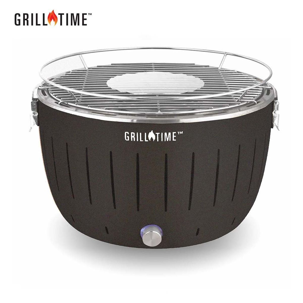 Grill Time Tailgater GT Regular Pack Portable Charcoal Grill - Gray