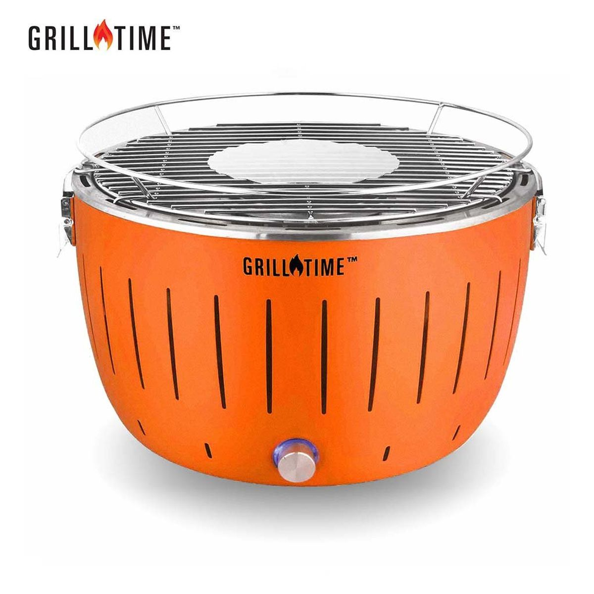 Grill Time Tailgater GT Regular Pack Portable Charcoal Grill - Orange