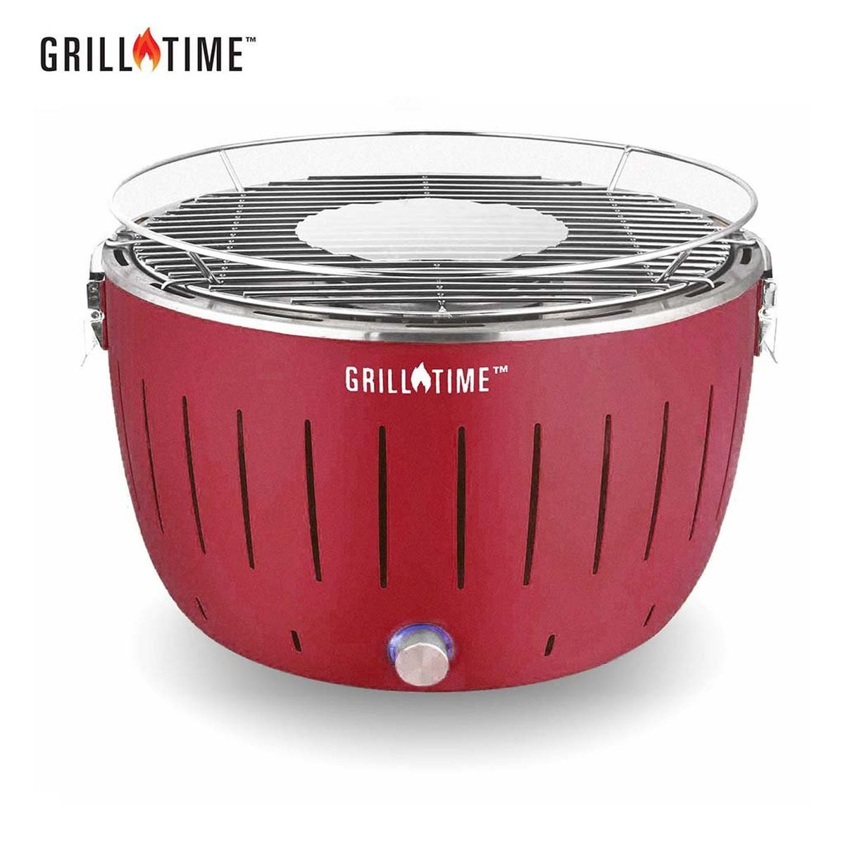 Grill Time Tailgater GT Regular Pack Portable Charcoal Grill - Red