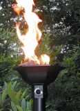 Cast Aluminum Gulf Style Automated Tiki Torch with Aluminum Pole - LP