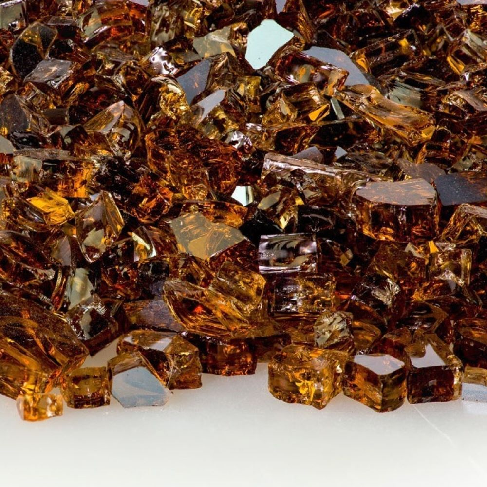 "Fireglass Plus 10 Lbs 1/2"" Reflective Fireglass - Copper"