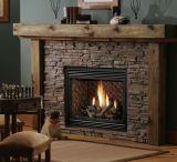 """36"""" 28K BTU DV IPI Fireplace w/Classic Oak Logs & Black Grill Kit - NG"""