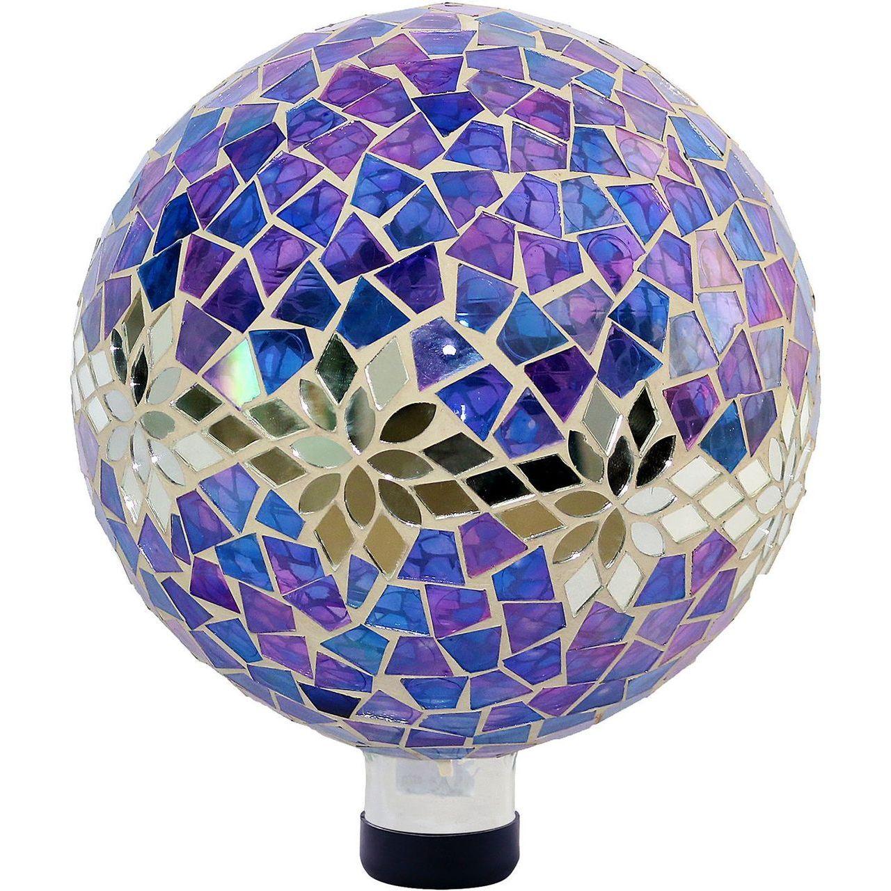 Alpine HGY296 Mosaic Glass Purple Gazing Globe