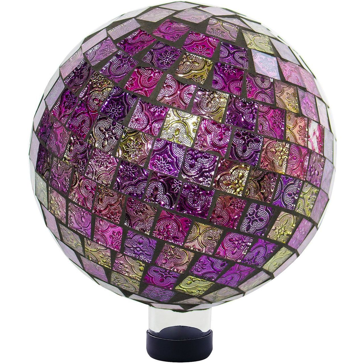 Alpine HGY302 Mosaic Pink Embossed Tile Pattern Gazing Globe