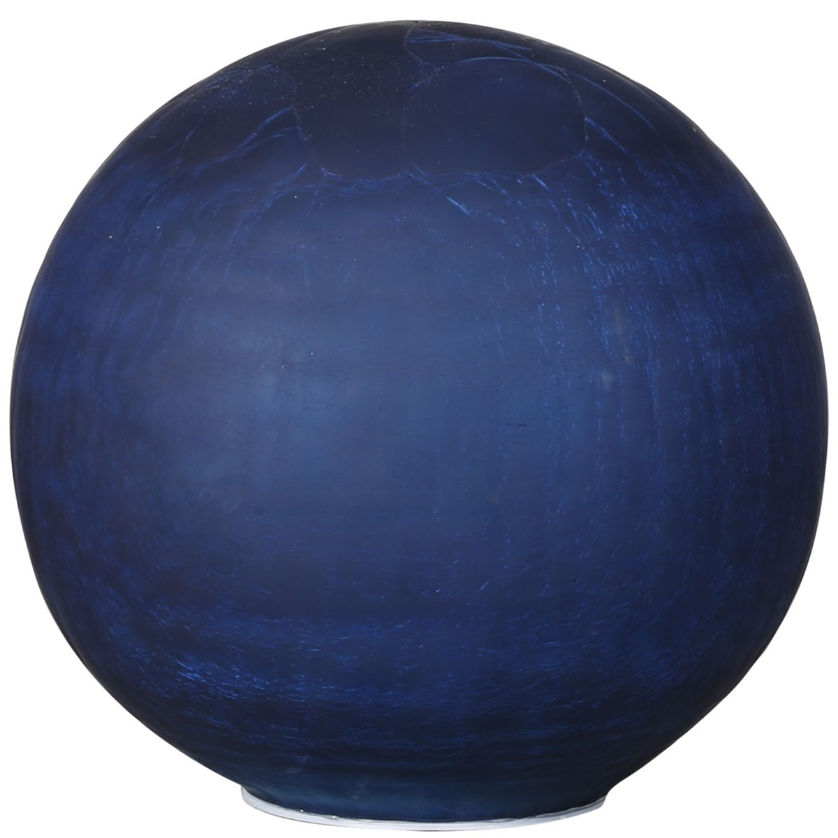 Alpine HGY382BL-L Blue Glass Gazing Ball with Battery Box