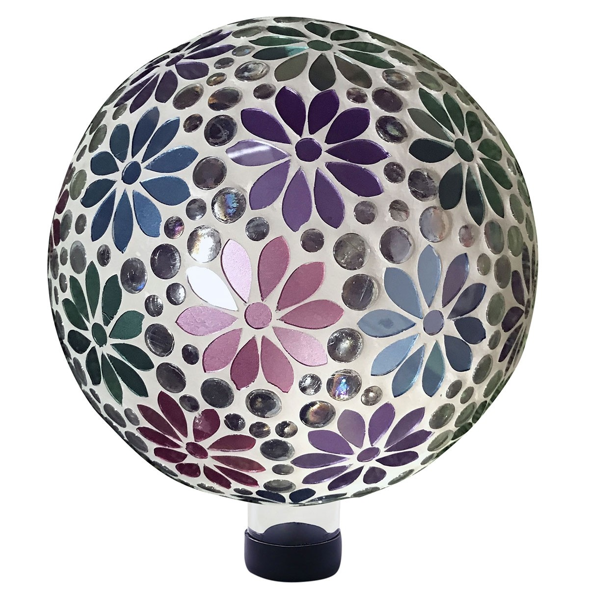 Alpine HGY426 Colorful Gazing Globe with Mosaic Flower Design
