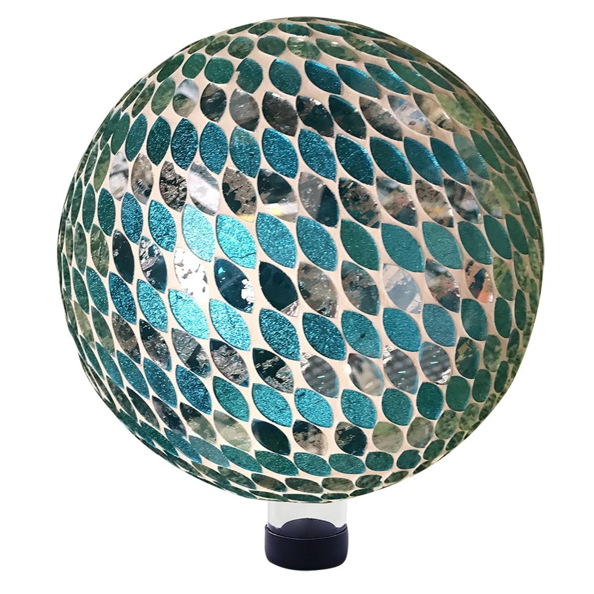 Alpine HGY428 Blue Almond Mosaic Gazing Globe