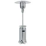 "87"" Patio Heater with Table - Stainless Steel"