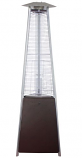 Tall Commercial Glass Tube Patio Heater - Hammered Bronze