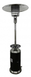 "87"" Tall Black Patio Heater - Stainless Steel"
