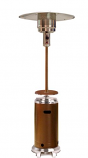 "87"" Tall Hammered Patio Heater - Gold Stainless Steel"