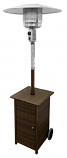 Tall Square Dark Wicker Patio Heater
