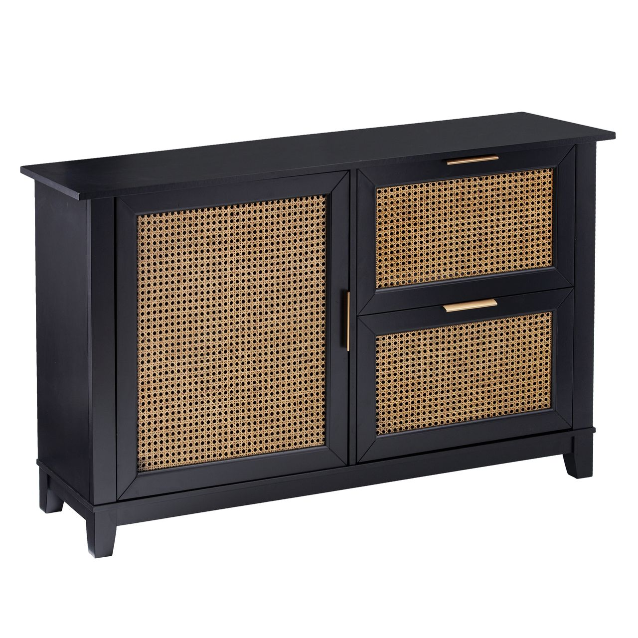 Holly & Martin Chekshire Anywhere Storage Cabinet in Black / Natural