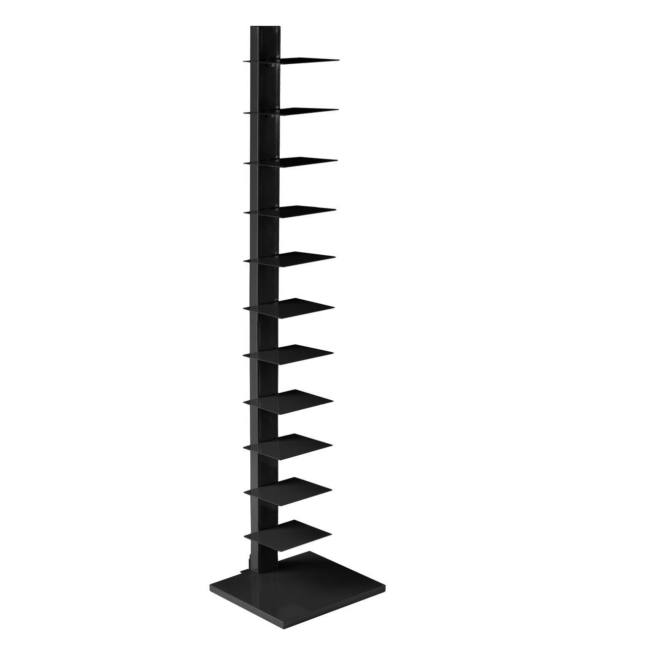 SEI Spine Tower Shelf in Black