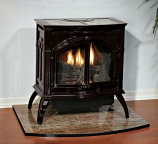 Empire VFD30CC30BN Heritage Cast Iron Porcelain Black VF Stove - NG