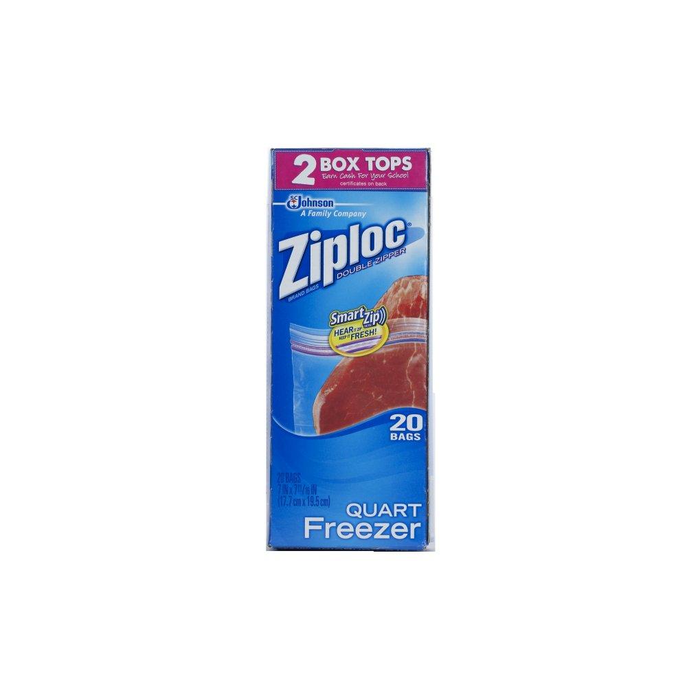 SC Johnson 20-Bag Quart Plastic Freezer Bags - 12 Packs