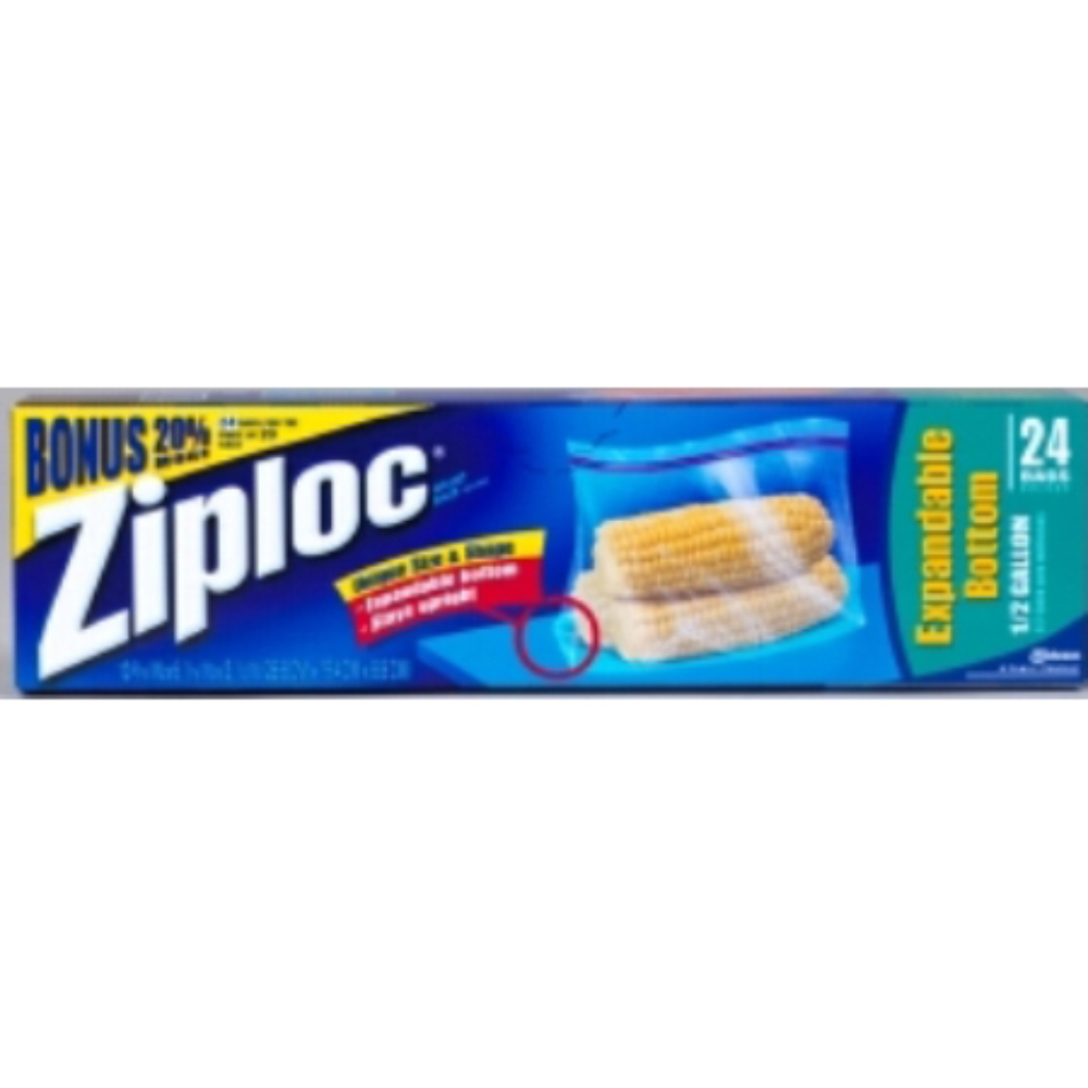 SC Johnson 0.5 Gallon EZ Zipper Storage Bags - 12 Packs