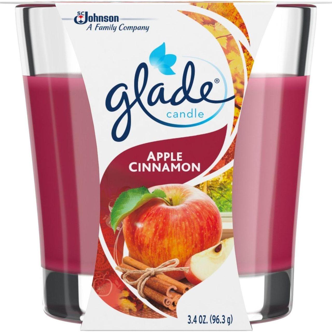 SC Johnson 3.4 oz Jar Apple Cinnamon Candle Air Freshener