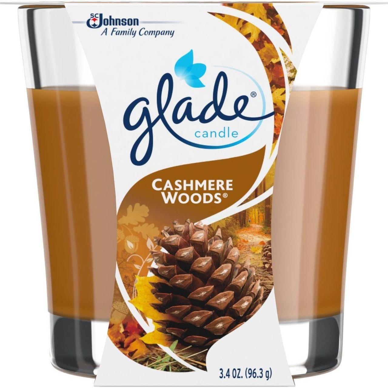 SC Johnson 3.8 oz Jar Cashmere Woods Candle Air Freshener