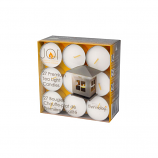 Case of 8 Packages Premium 4-Hour Tea Light Candles for JOI Lantern