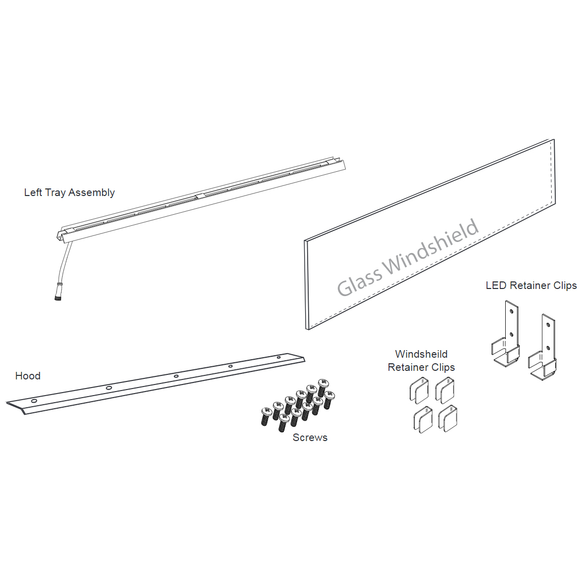 "Firegear 78002 Kalea Bay LED See-Through Conversion Kit-36"""
