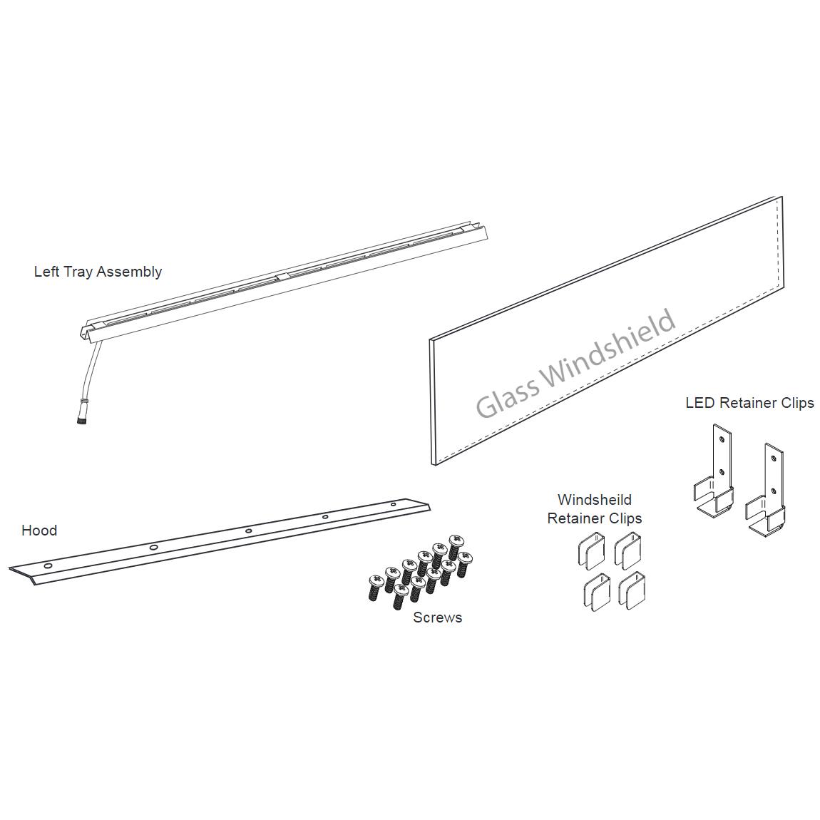 "Firegear 78008 Kalea Bay LED See-Through Conversion Kit-72"""