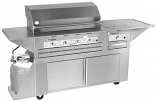 Lazy Man Outdoor Custom Cart Barbecue - Five Burner � Propane Model