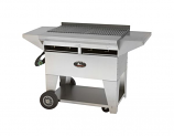 Lazy Man Model A2 Elite Propane Gas Stainless Steel Gourmet Series Mobile Grill