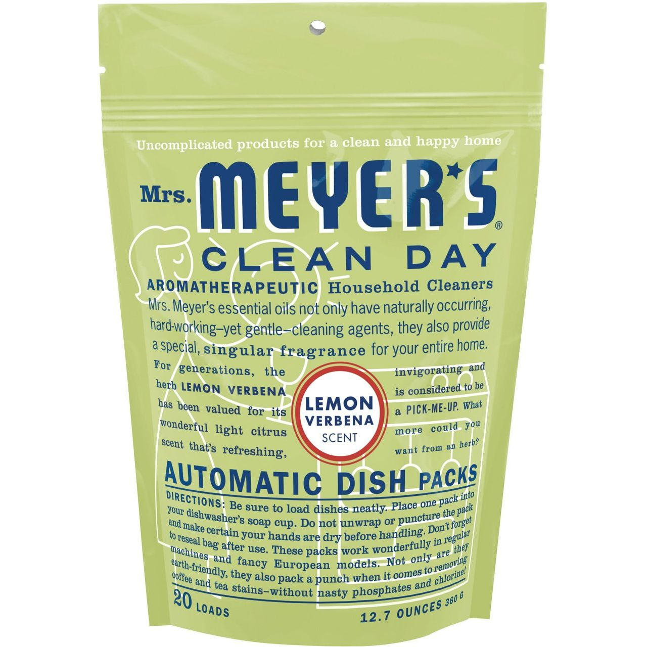 Caldrea 12.7 oz Lemon Verbena Automatic Dishwasher Packs