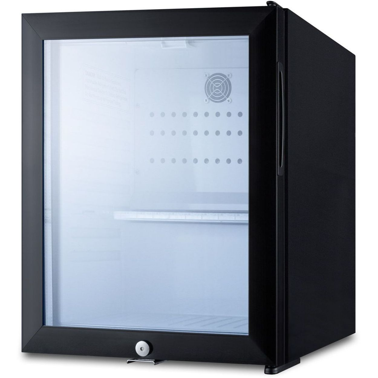 Summit MB13G 0.9 Cu Ft Black Compact Minibar - Glass Door